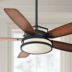 """54"""" Casablanca Stealth Industrial Rust LED Ceiling Fan - #5M256 