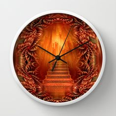 A glimpse of heaven Wall Clock by Giada Rossi - $30.00