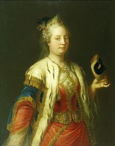 Martin van Meytens, Maria Theresa with a Mask in a Turkish Dress. 1744. Schloß Schönbrunn Kultur- und Betriebsges.m.b.H.