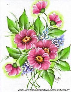 Pintura em Tecido Passo a Passo Com Fotos: Galeria Flores: