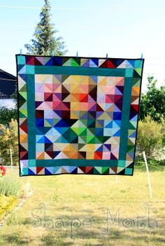 Quilt Story: Shattered Rainbow Quilt by ShapeMoth