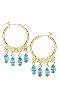 Jewelry Design - Earrings with Swarovski Crystal and Gold-Plated Brass Marquise Drops - Fire Mountain Gems and Beads
