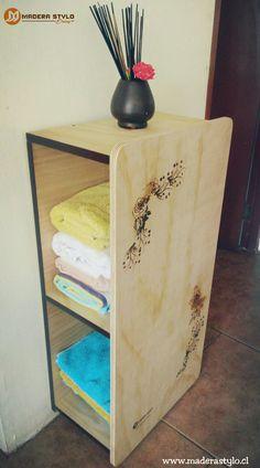 Mueble toallero para baño