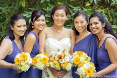 White calla lilies, yellow roses, yellow dahlias, white gerber daisies, yellow peonies, yellow gerber dasies and more! Call today for a free wedding consultations! 503-635-6661 Photo Credit: Aniko Productions
