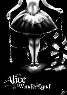 Alice in Wonderland artwork is always so dark in context, this illustration follows suite.