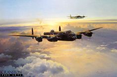 Pack of two RAF Lancaster aviation art prints by Robert Taylor and Graeme Lothian. Description from militaryartcompany.com.