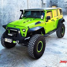 Jeep Flow — I have a weak spot for gecko green jeeps! Love...