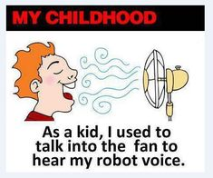 Talking into the fan. #Childhood #Retro #Memories