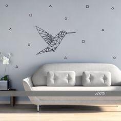 (3797n) #Nálepka na stenu - #Kolibrík   #artsablony
