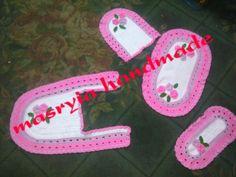 For bathroom Bathroom Accessories, Flip Flops, Sandals, Handmade, Shoes, Women, Fashion, Moda, Bathroom Fixtures