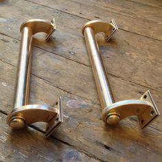 Art Deco Door Hardware Antique Solid Br Pull Handles