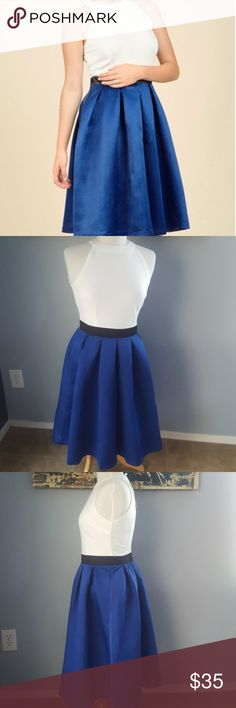NWT Modcloth White & Sapphire Color Block Posh A line dress with back zip. Brand new with tags never worn. The bodice area has stretch but the skirt does not. I believe this dress is no longer available on Modcloth's website. Smoke free home. Bundle for a great deal! Modcloth Dresses