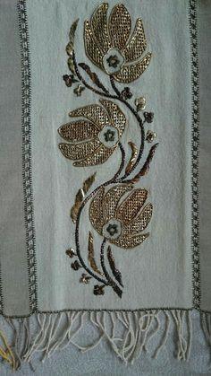 Κεντημα Hand Embroidery Dress, Hand Embroidery Designs, Painted Clay Pots, Embroidered Towels, Gold Work, Herd, Crochet Stitches, Crochet Projects, Couture