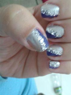 Unha com glitter ;)