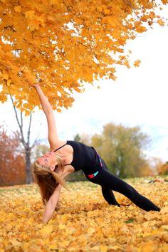 Autumn yoga