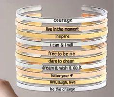 All new affirmation bracelets www.lilyannedesigns.com.au/rachelpaterson