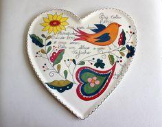 Prato Coração de Cerâmica