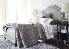 Quinn Bed with High Footboard - Ethan Allen