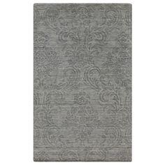 Surya Etching Grace Gray Plush Pile Wool Rug @Sarah Nasafi Grayce