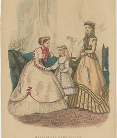 Fashion plate, 1867, Louisiana State Museum
