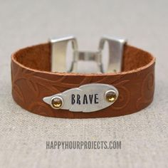 DIY Embossed and Stamped Leather Bracelet