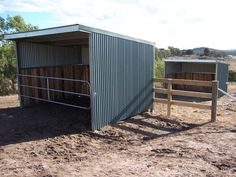 Horse shelter with gate in Australia
