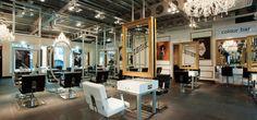 Modern Hair Salon Interior Gallery Pictures Photos and Ideas of . Vintage Salon Decor, Vintage Hair Salons, Design Salon, Beauty Salon Design, Nail Salon And Spa, Hair Salon Interior, Beauty Salon Decor, Salon Furniture, Modern Loft