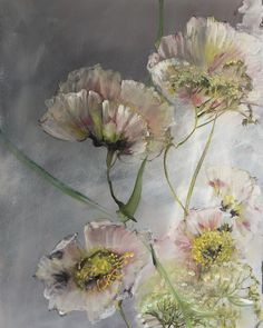 by Claire Basler Painting & Drawing, Watercolor Paintings, Floral Paintings, Gold Leaf Art, Web Gallery, Art For Art Sake, Botanical Art, Painting Inspiration, Flower Art