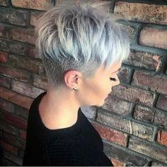 The 77 Hottest Short Pixie Cut Hairstyles You'll See Trending in 2019 Short Pixie Haircuts Trending Hairstyles, Bob Hairstyles, Short Pixie Hairstyles, Undercut Pixie Haircut, Pixie Cut With Undercut, Asymmetrical Hairstyles, Braided Hairstyles, Short Messy Haircuts, Short Female Haircuts