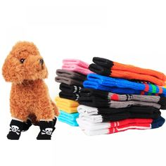 Item Type: Socks for Dogs Material: Cotton Quantity: 4 pcs Features: Small Dog, Shoes, Cotton, Anti Slip Size Info: Size (cm) Sock Width S 6 M 8 3 L 9 XL 10 4 Puppy Shoes, Cat Shoes, Pet Dogs, Dogs And Puppies, Dog Cat, Dog Booties, Cheap Pets, Dog Socks, Little Dogs