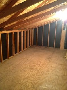 Attic Storage Ideas | There are two finished attic spaces in the bonus room}