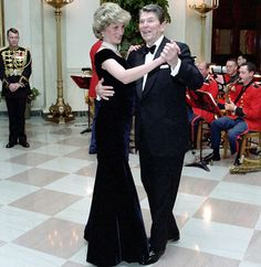 Britain's Princess Diana of Wales dancing with actor John Travolta at a White House dinner on November 9, 1985. Description from ufadimi.sourceforge.net. I searched for this on bing.com/images