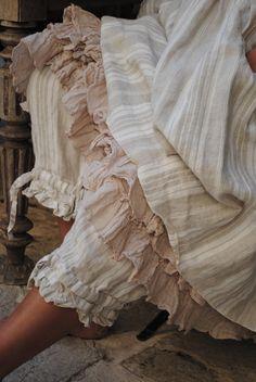jupon en voile de coton rose...