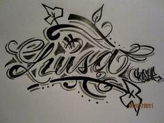 dibujos con el nombre luisa - Buscar con Google Graffiti Lettering, Arabic Calligraphy, Kawaii, Letters, Draw, Tattoos, Creative, Crafts, Google