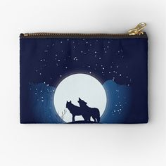 A durable pouch for holding coins, cards, phone, pencils, cosmetics. #pencilpouch #smallbag #cardholder #wallet #zipperpouch #travelpouch #kidspouch #wolf#wolves