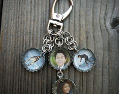 Custom Photo Bottle Cap Key Chain by betsysdrawers on Etsy