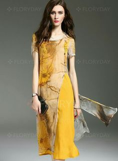 Eco dye a sheer top and put it over a solid dress like this.