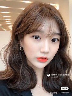 Korean Wavy Hair, Korean Hair Color, Asian Short Hair, Korean Medium Hair, Short Hair Korean Style, Ulzzang Short Hair, Asian Bangs, Bangs With Medium Hair, Medium Hair Styles