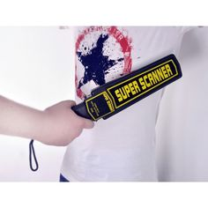 Hand-held metal detector wand with audio and vibrating alarm. Security checks made easy. From shopswagstore.com