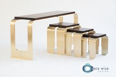 Chiavi Console and Nesting Tables by Sara Wise Design http://www.sarawise.com/collection/