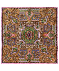 Orange Heritage Paisley Print Silk Neckerchief
