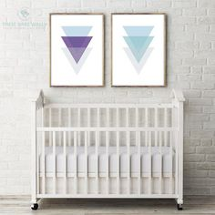 It's all about the #triangles! Shapes have never looked so cute! Check out these 2 prints along with the other color combinations in our store. #nurserydecor #polygons #prints