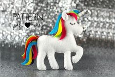 Unicorn Sewing Pattern - Sewing Patterns at Makerist