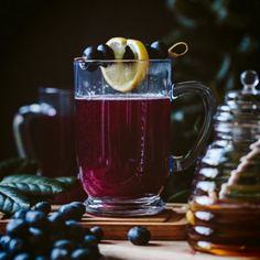 So your friends decide last minute to swing by your place for a drink? The more the merrier! You'll have all the ingredients on hand for this blueberry honey cinnamon toddy so you can shake, stir and serve all while looking like the most prepared host/ess on the block.