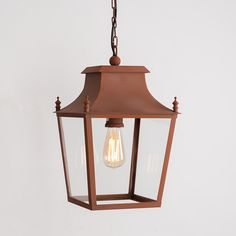Blenheim Hanging Lantern Small Italian Terracotta by A Place In The Garden Vintage Led Bulbs, Covered Walkway, Wall Lights, Ceiling Lights, Corten Steel, Ceiling Rose, Hanging Lanterns, Outdoor Lighting, Terracotta