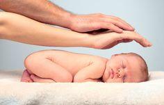 cute idea for newborn photo at home