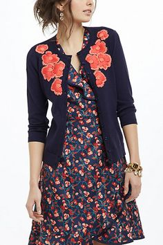 Firebloom Cardigan #anthropologie