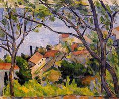 Paul Cézanne - L'Estaque, View through the Trees - 1879