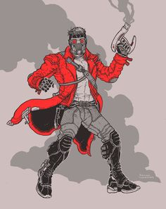 ramonvillalobos: hooked on a feeling Guardians of the Galaxy by Ramon Villalobos Marvel Vs, Marvel Dc Comics, Marvel Heroes, Ramones, Character Art, Character Design, Marvel Animation, Comic Art, Comic Books
