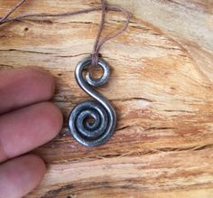 Gotland Iron Viking spiral Pendant by NorseWest on Etsy